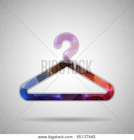 Creative concept vector icon of hanger for clothes for Web and Mobile Applications isolated on backg