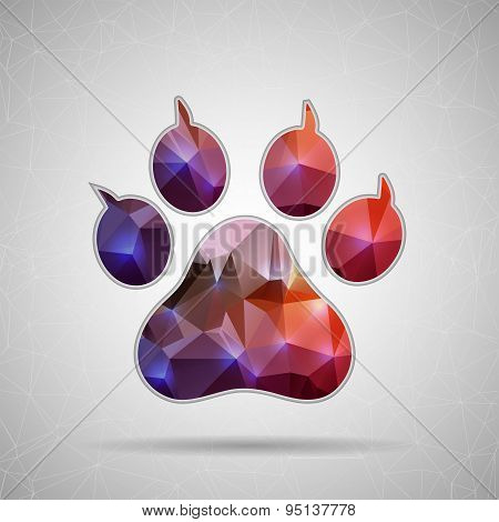 Creative concept vector icon of animal footprint for Web and Mobile Applications isolated on backgro