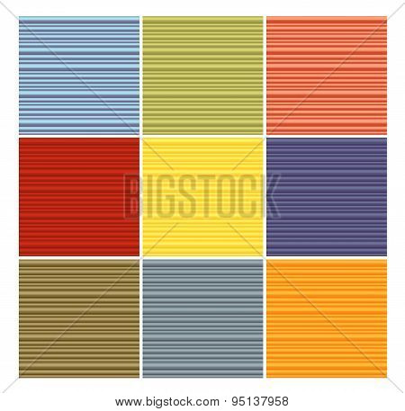 Striped Tube Pattern Collection In Different Color