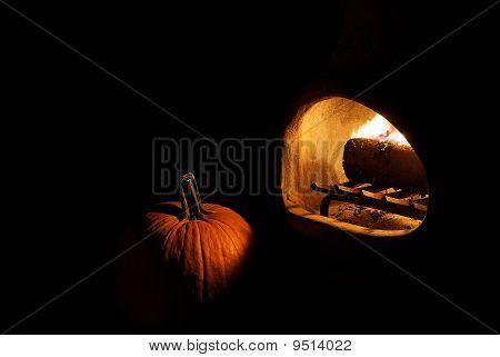 Pumpkin by Firelight