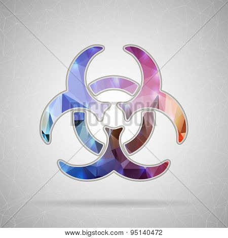 Abstract Creative concept vector icon of Bio hazard for Web and Mobile Applications isolated on back