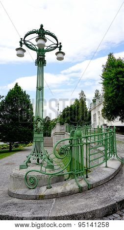 Wrought Iron Bridge Railing And Colum