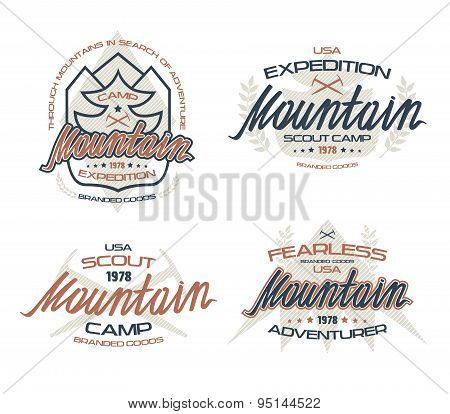 Mountain Emblems  For T-shirt