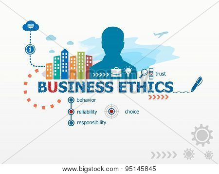 Business Ethics Concept And Business Man.