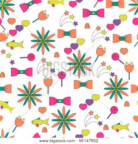 Vector seamless illustration pattern candy mood