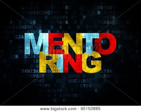 Education concept: Mentoring on Digital background