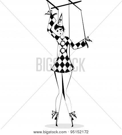 hand puppet Pierrette