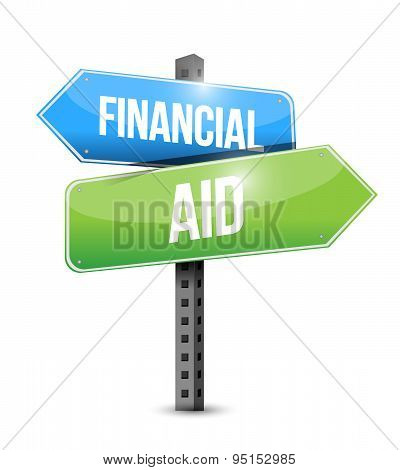 Financial Aid Road Sign Concept