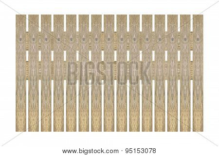 Background vintage wooden fence background. Old wooden fence on a white background.