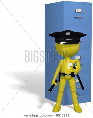 Data Security Cop Guards Protect Safe Files