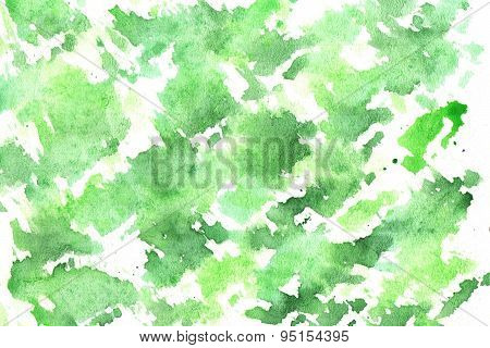 Watercolor Green Background