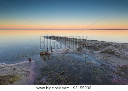 Beautiful Seascape Of Bay Before Sunrise