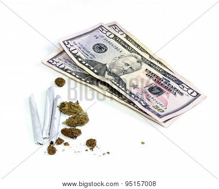 Money With Joints And Pot