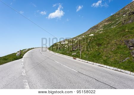 High Mountain Road In Summer