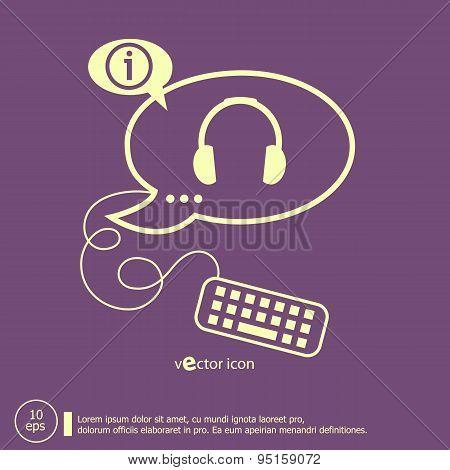 Headphone And Keyboard Design Elements