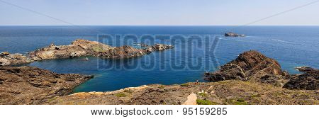 Panoramic view of  Cap de Creus, Catalonia, Spain