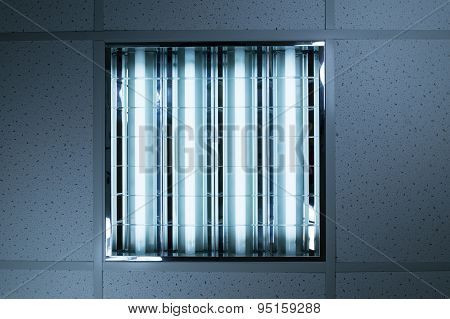 Fluorescent Lights In Office Ceiling