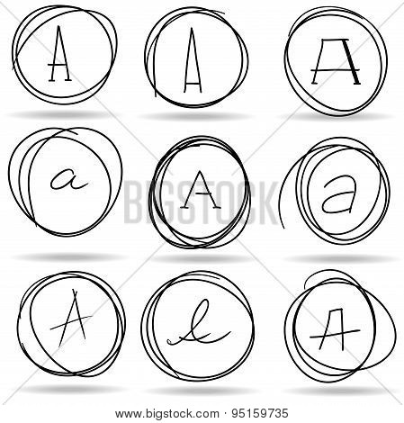 Scribble Circles Or Highlights