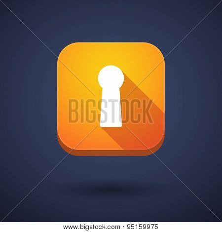 App Button With A Key Hole