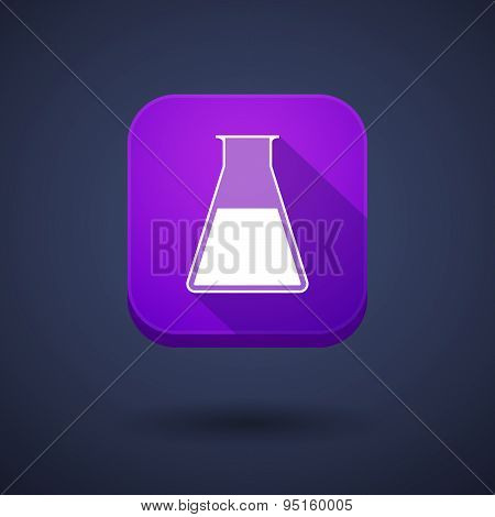 App Button With A Chemical Test Tube