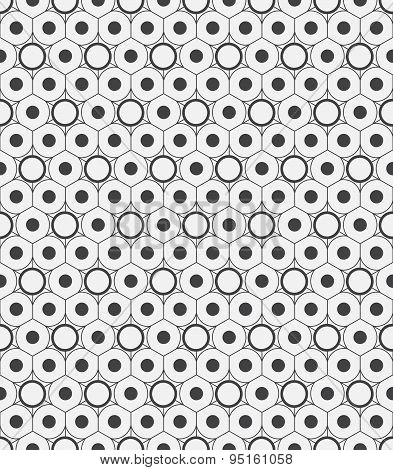 Vector seamless pattern. Modern stylish texture. Repeating geometric background with rhombus and nod