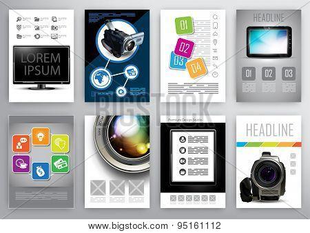 set of flyers design template