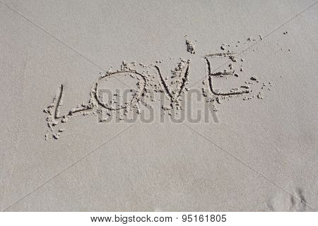 Inscription Summer On Beach Sand