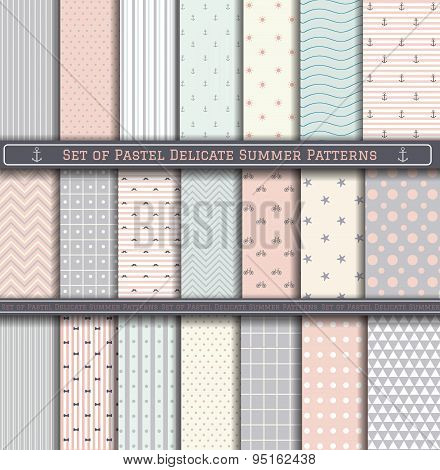 Big Set Of Pastel Summer Pattern