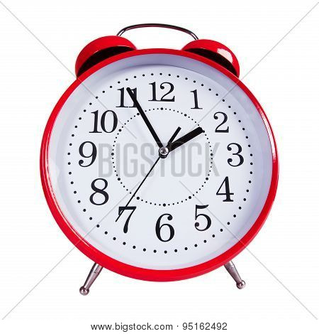 Round Red Alarm Clock