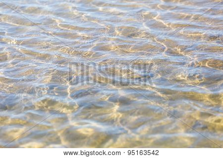 Abstract Background Of Ripples On Sea Water Surface