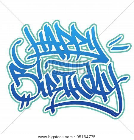 Happy Birthday Graffiti Style