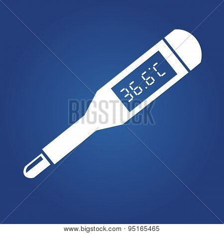 medical icon - thermometer. flat icon. Vector illustration.