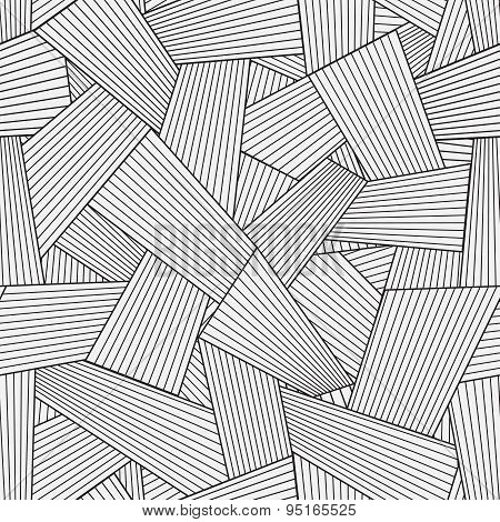 Vector Light Seamless Pattern With Interweaving Of Thin Lines. Traditional Hatching Of Architectural