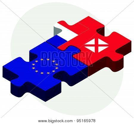 European Union And Wallis And Futuna Flags