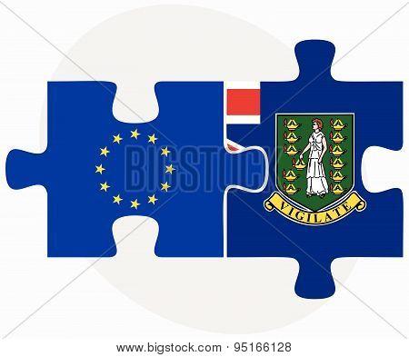 European Union And Virgin Islands (british) Flags