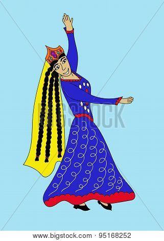 Asian woman dancing