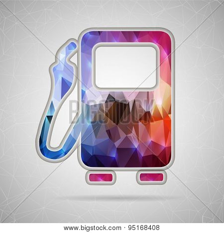 Abstract Creative concept vector icon of gas station for Web and Mobile Applications isolated on bac