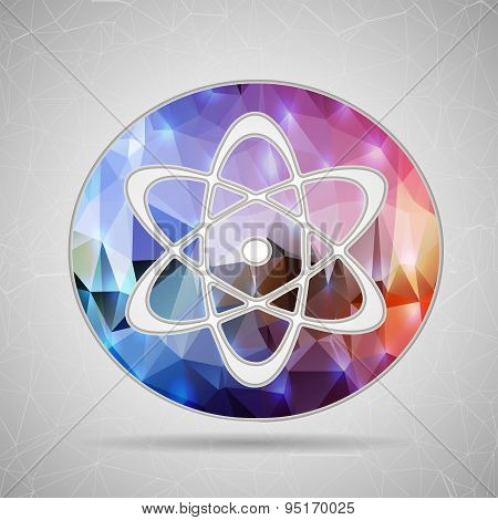 Abstract Creative concept vector icon of atom for Web and Mobile Applications isolated on background