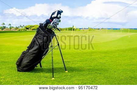 Golf Clubs Background