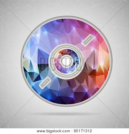 Abstract Creative concept vector icon of CD disk for Web and Mobile Applications isolated on backgro