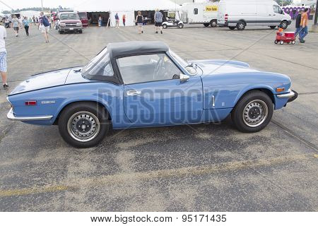 Blue Triumph Spitfire 1500 Car