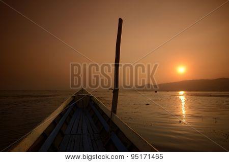 Asia Myanmar Inle Lake Landscape Sunrise