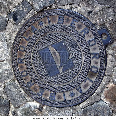Iberdrola Energy Manhole Cover Avila Castile Spain