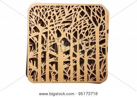 Decorative Plaque With Carved Wood