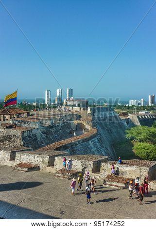 San Felipe De Barajas Fortress Cartagena Colombia