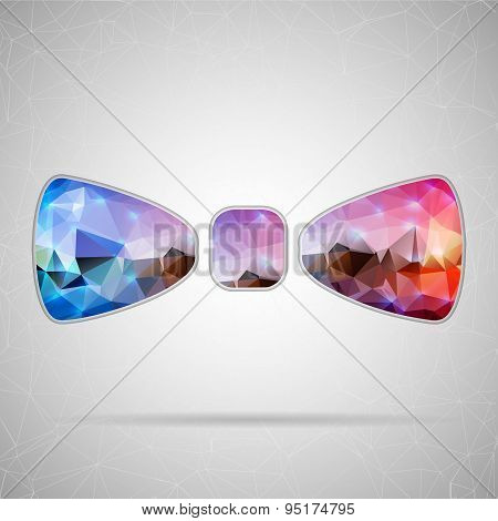 Abstract Creative concept vector icon of bow tie for Web and Mobile Applications isolated on backgro