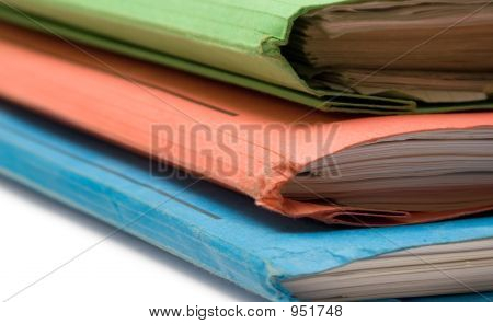 Colorful Binders (Front Side View)