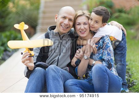 Happy Family And Hobby