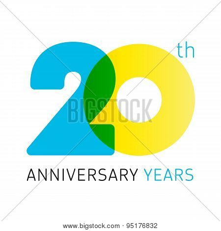 20 anniversary years logo