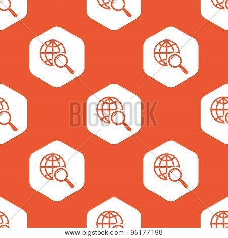 Orange hexagon global search pattern
